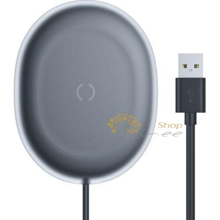 Беспроводная зарядка Baseus Jelly Wireless Charger 15W Black (WXGD-01)