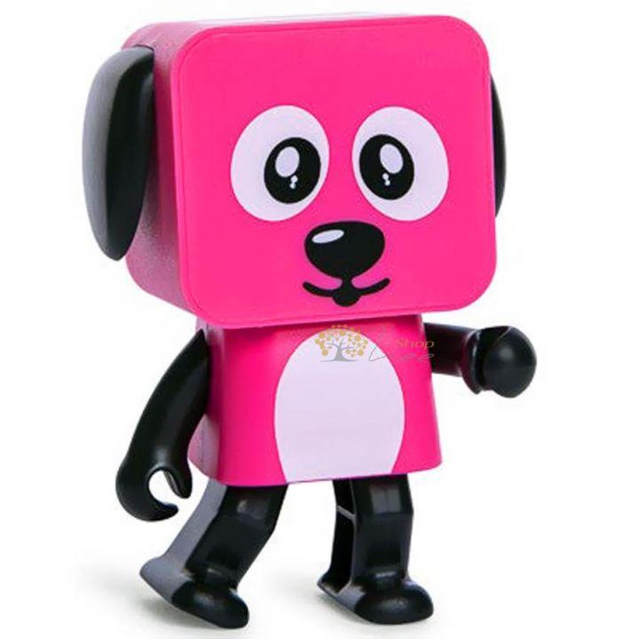 Акустическая система Dancing Dog Bluetooth Speaker Pink от MOB